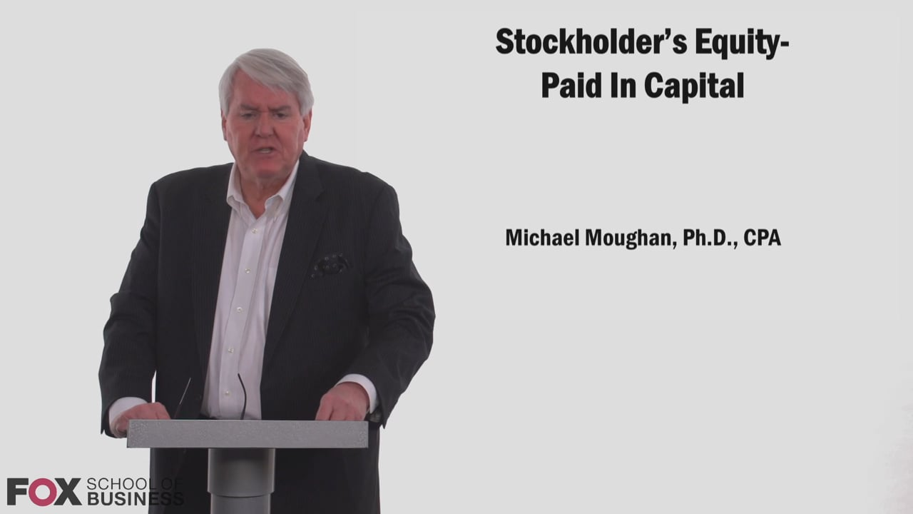 58775Stockholder's Equity – Paid in Capital