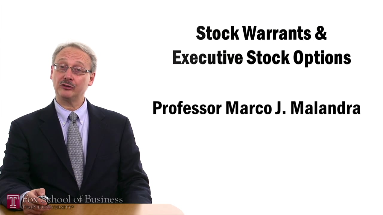 57398Stock Warrants and Executive Stock Options
