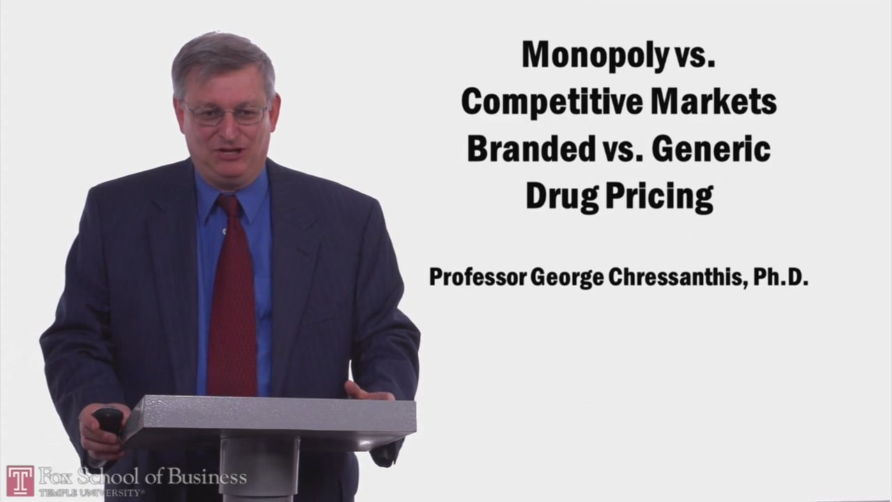 57976Monopoly vs Competetive Markets and Branded vs Generic Drug Pricing