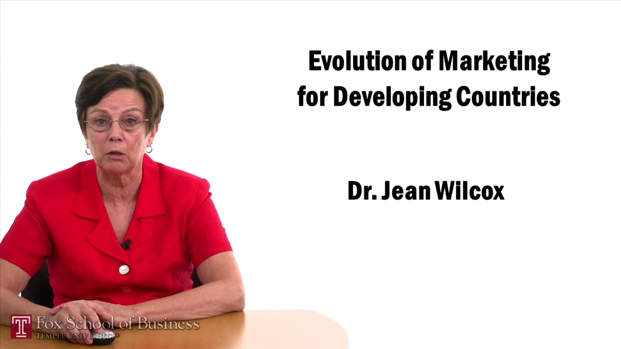 57436Evolution of Marketing for Developing Countries