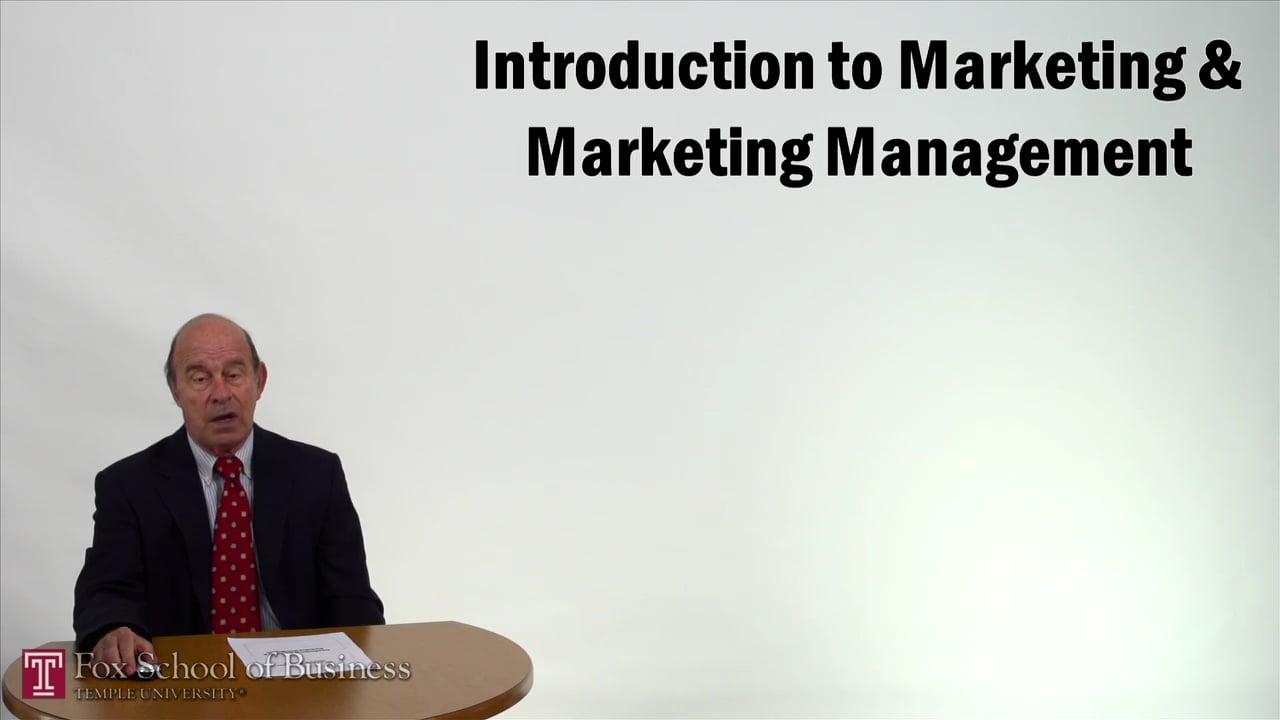 57262Introduction to Marketing and Marketing Management
