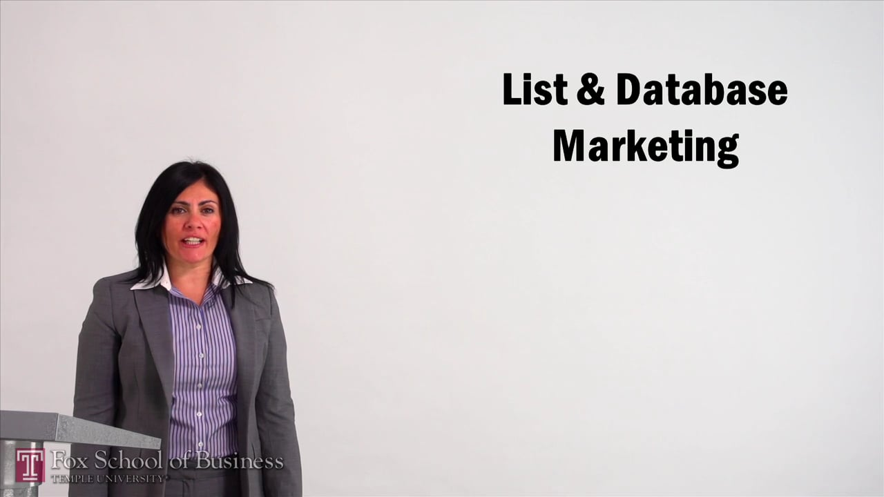 57089List and Database Marketing