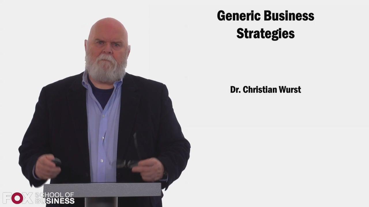 58450Generic Business Strategies