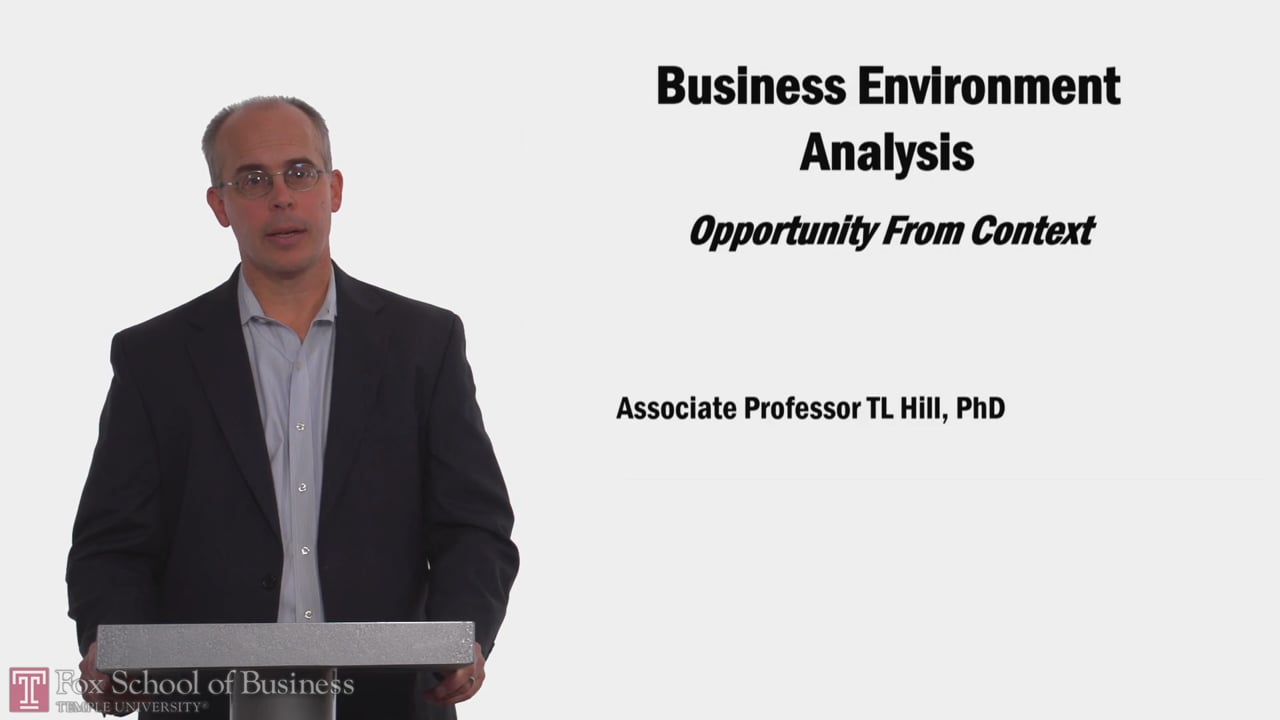 58131Business Enviroment Analysis Oppurtinity From Context