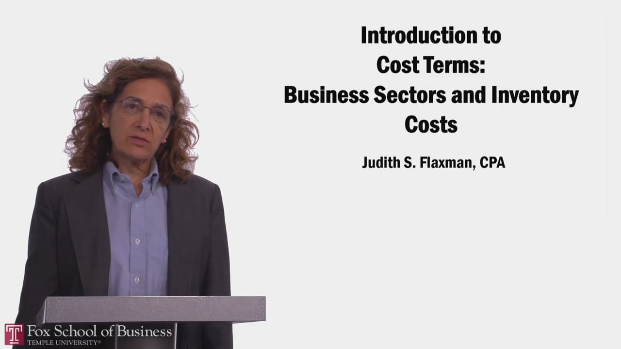 58052Introduction to Cost Terms: Business Sectors and Inventory Costs