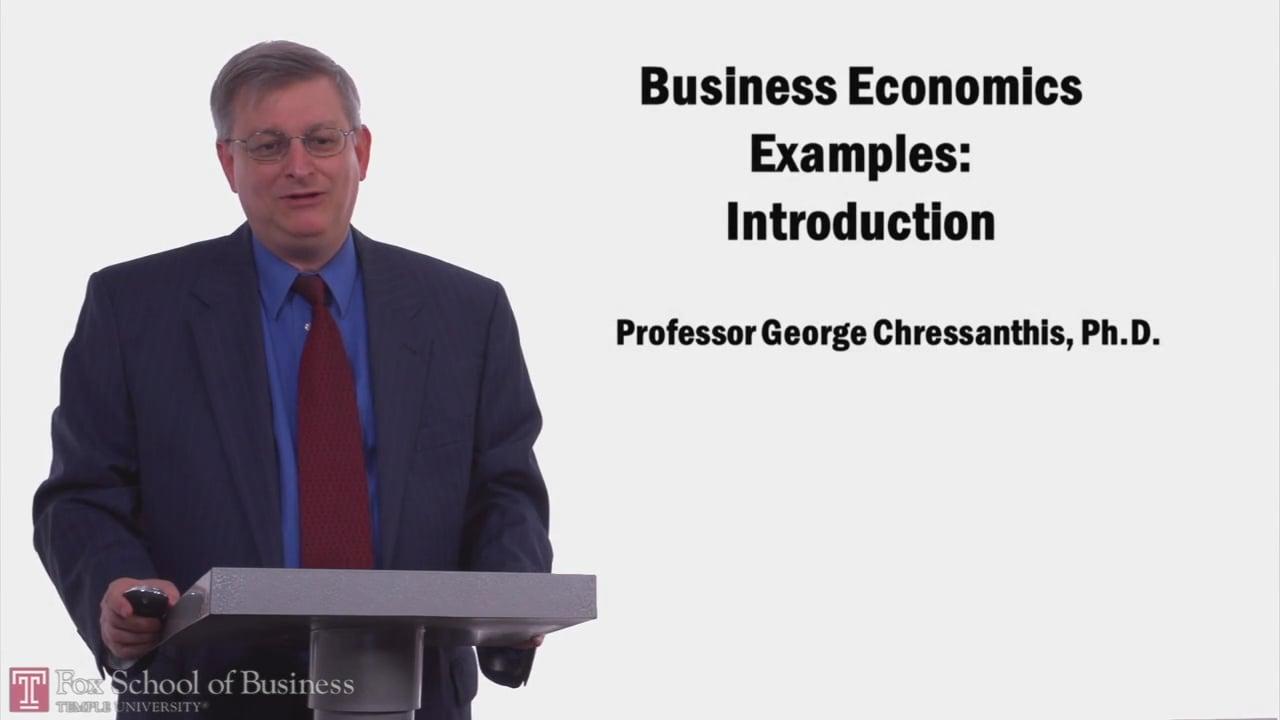 57971Business Economics Examples: Introduction