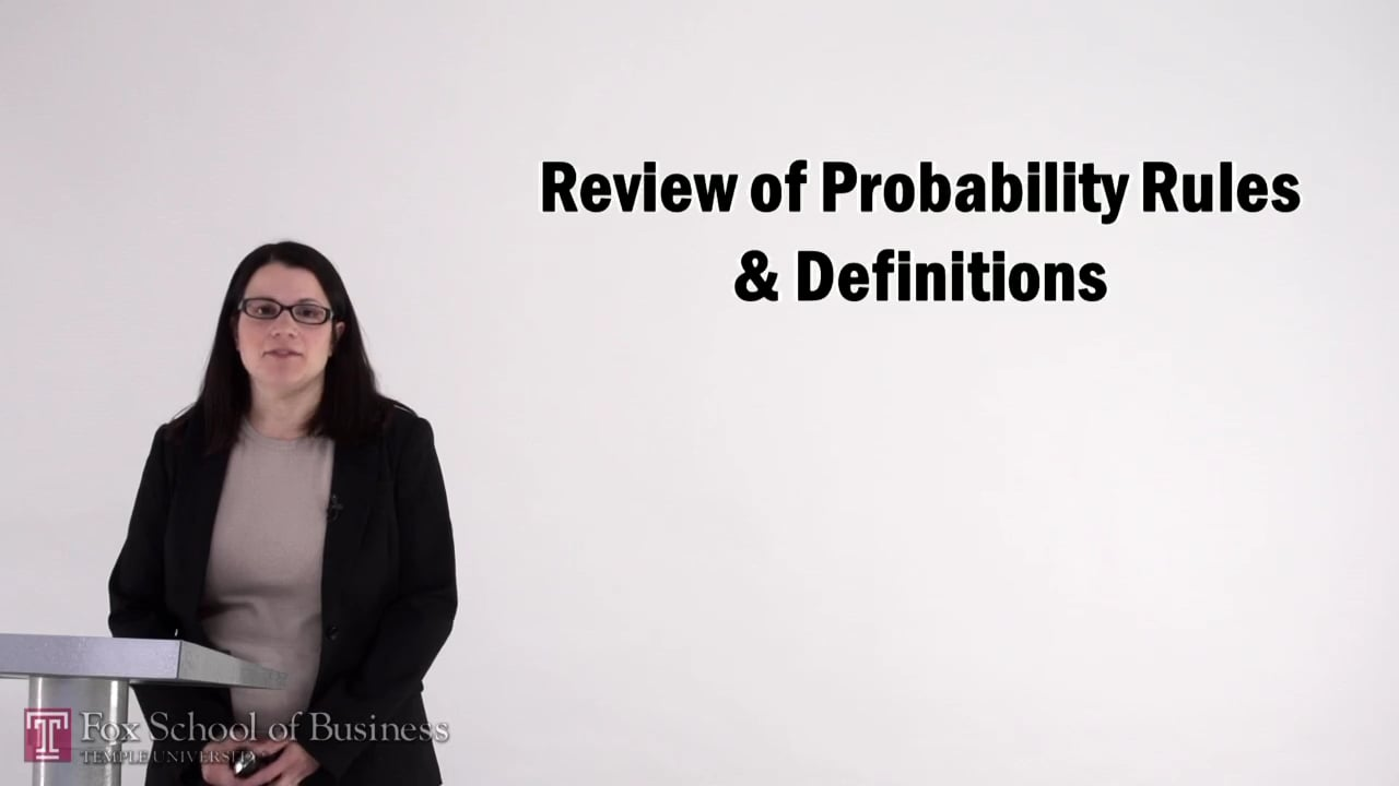 56987Review of Probability Rules and Definitions