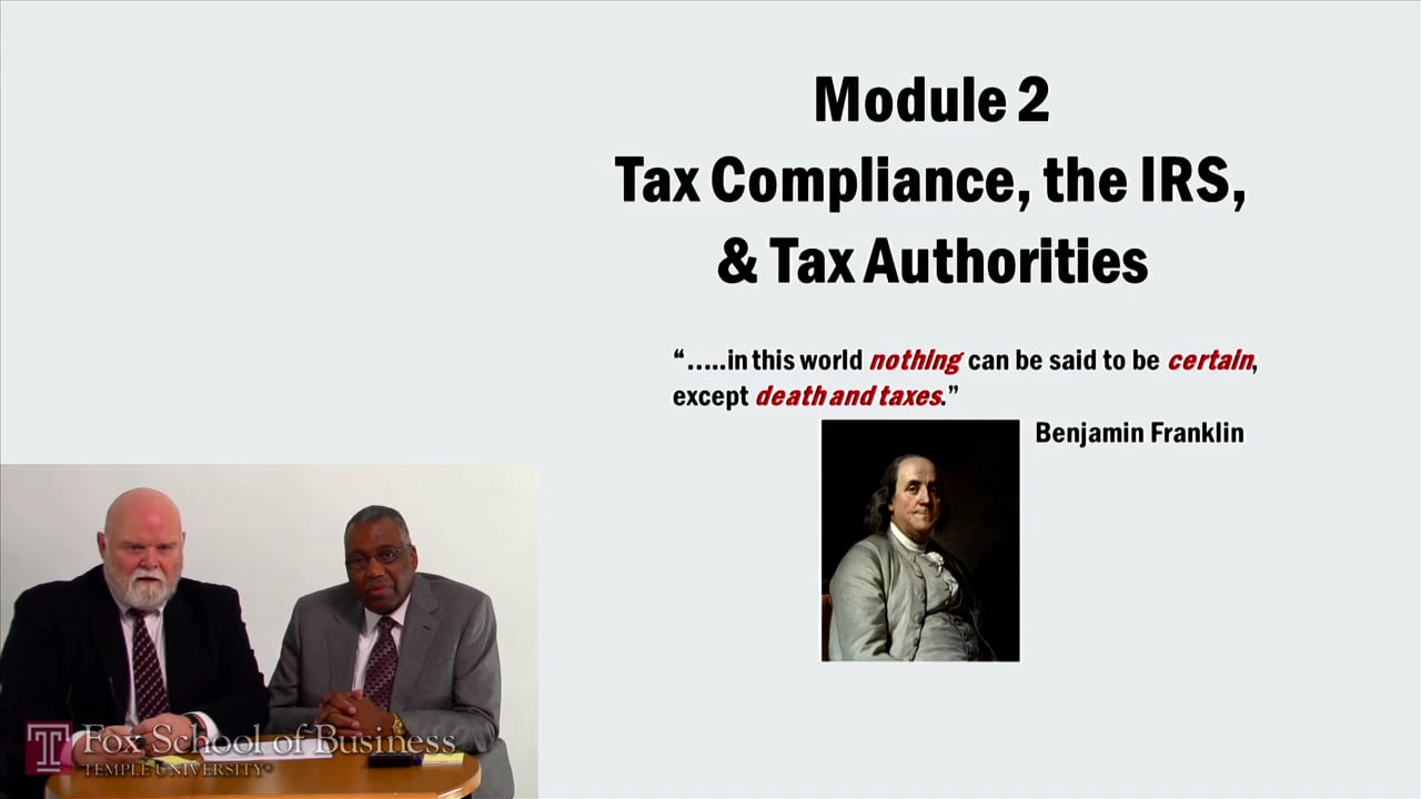57051Tax Computing The IRS and Tax Authorities