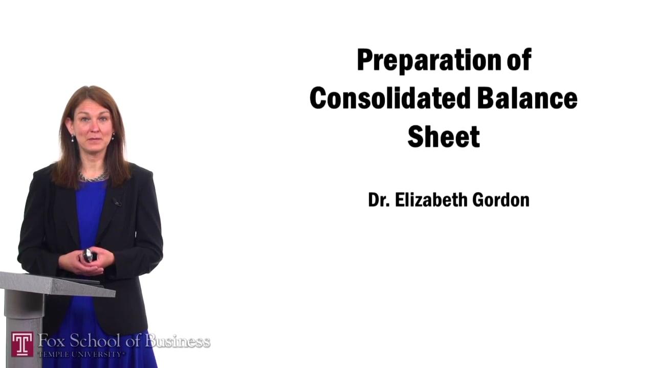 57495Preparation of Consolidated Balance Sheet