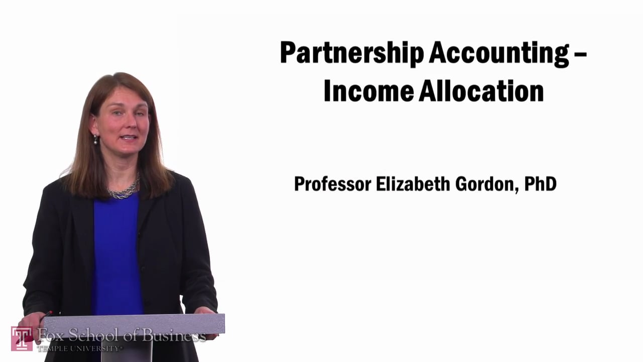 57680Partnership Accounting-Income Allocation