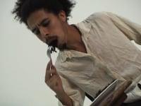Paulo Nazareth, <em>Cabelo [Hair]: A man eat him a black hair</em>, 2005, video, 06'20