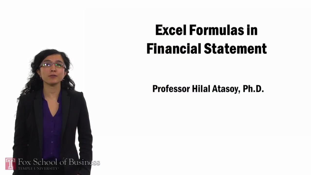 57772Excel Formulas in Financial Statements