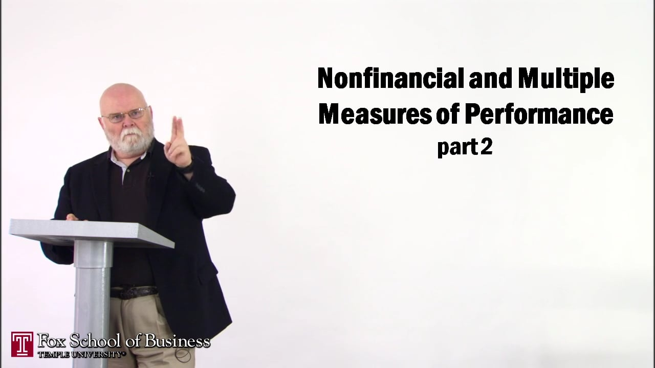 56854Nonfinancial and Multiple Measures of Performance II