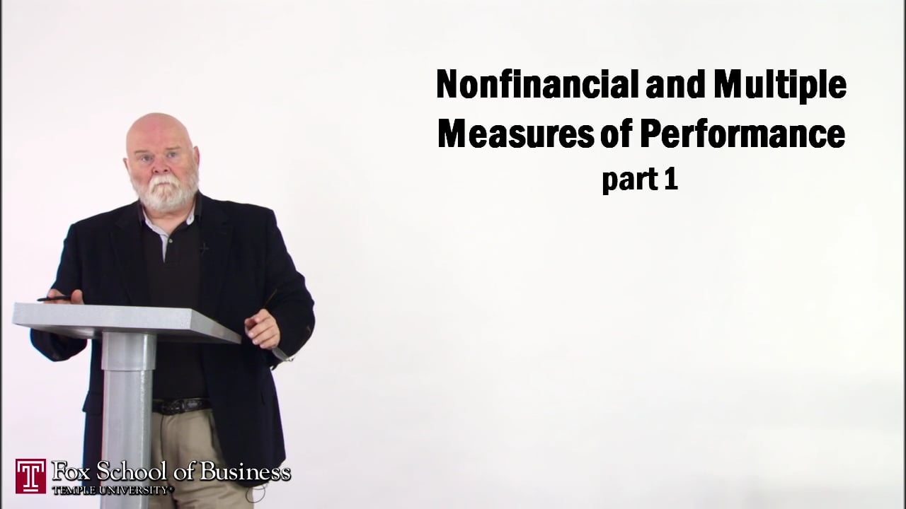 56853Nonfinancial and Multiple Measures of Performance I