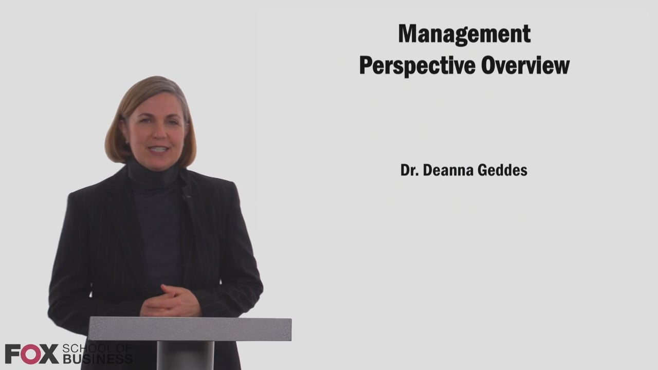 58750Management Perspective Overview