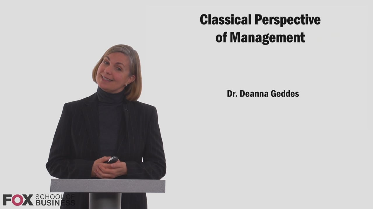 58749Classical Perspective of Management