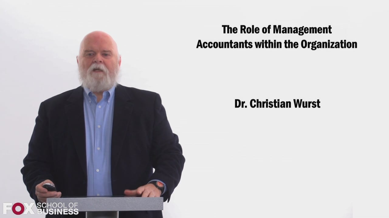 58481The Role of Management Accountants within the Organization