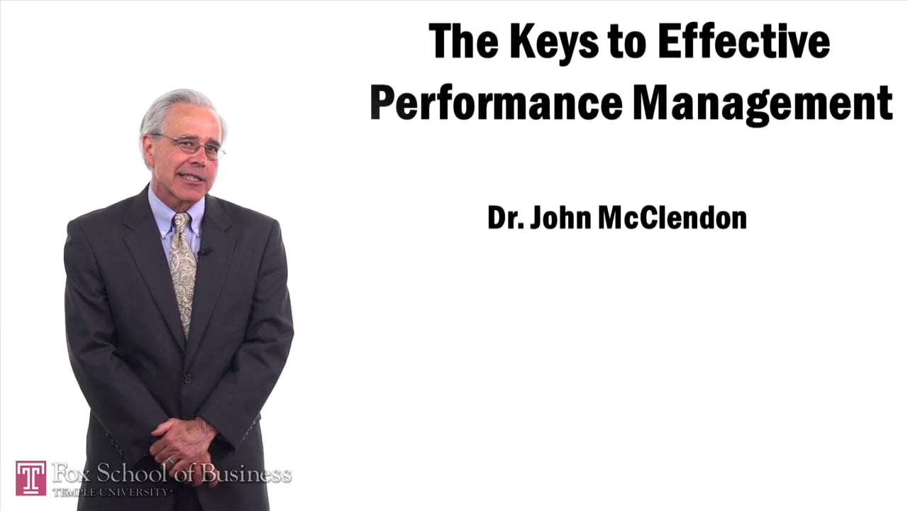 58050The Keys to effective Performance Management