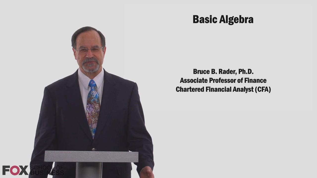 58781Basic Algebra