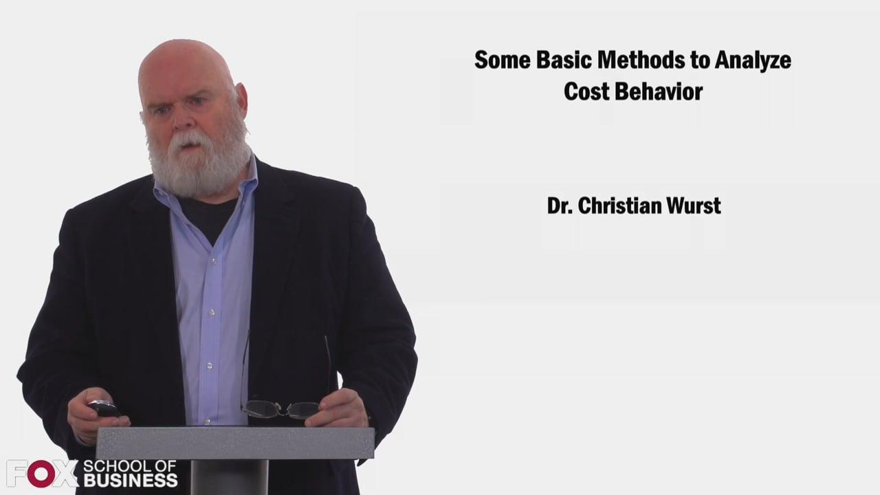 58473Some Basic Methods to Analyze Cost Behavior