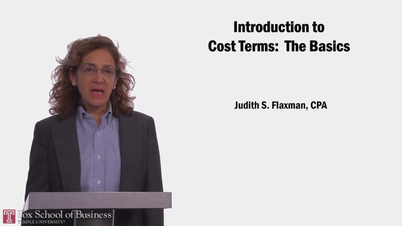 58054Introduction to Cost Terms: The Basics