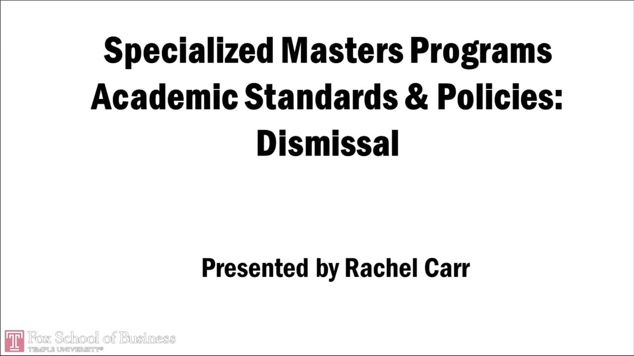 58739Specialized Masters Programs – Dismissal