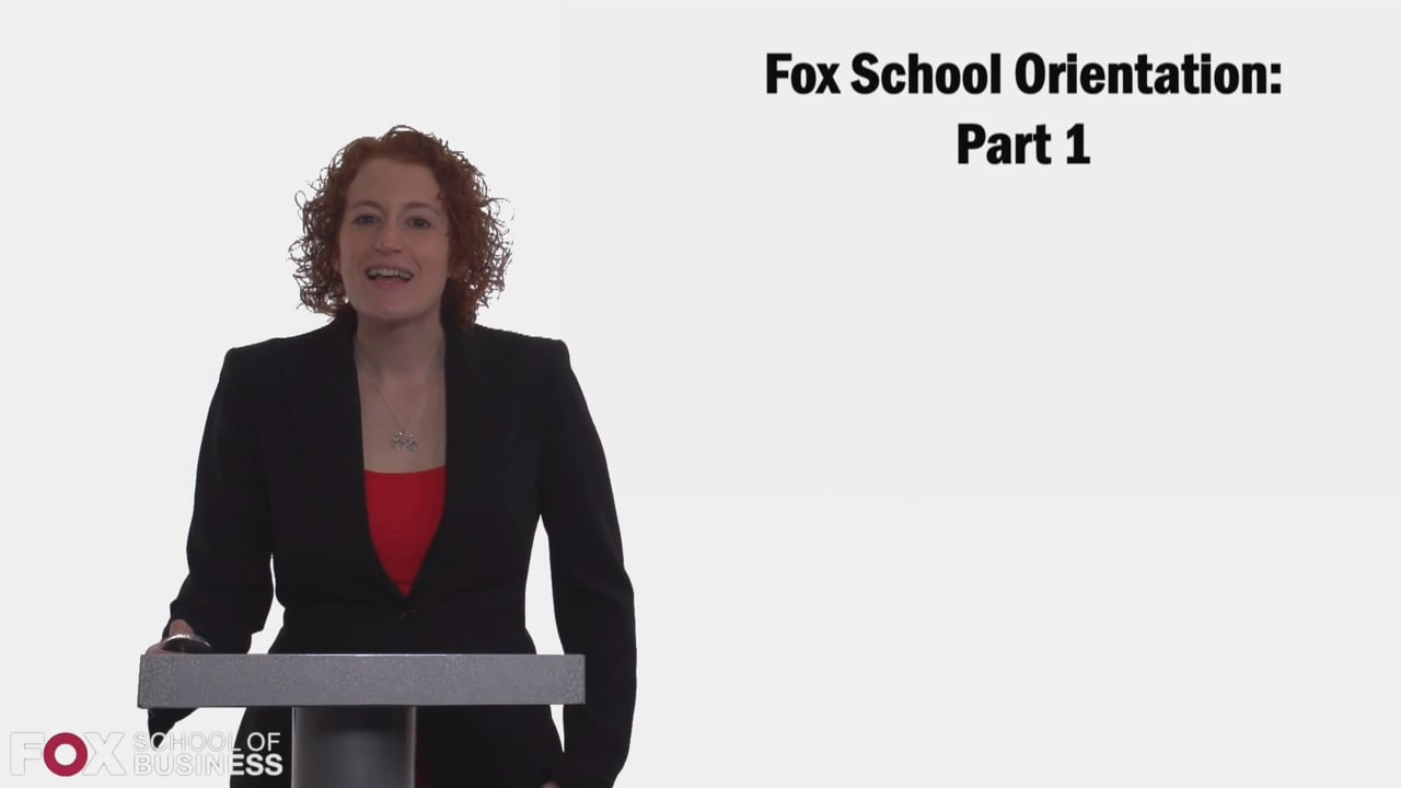 58723Fox Orientation PT1: Student Expectations, Getting Involved, Advisors