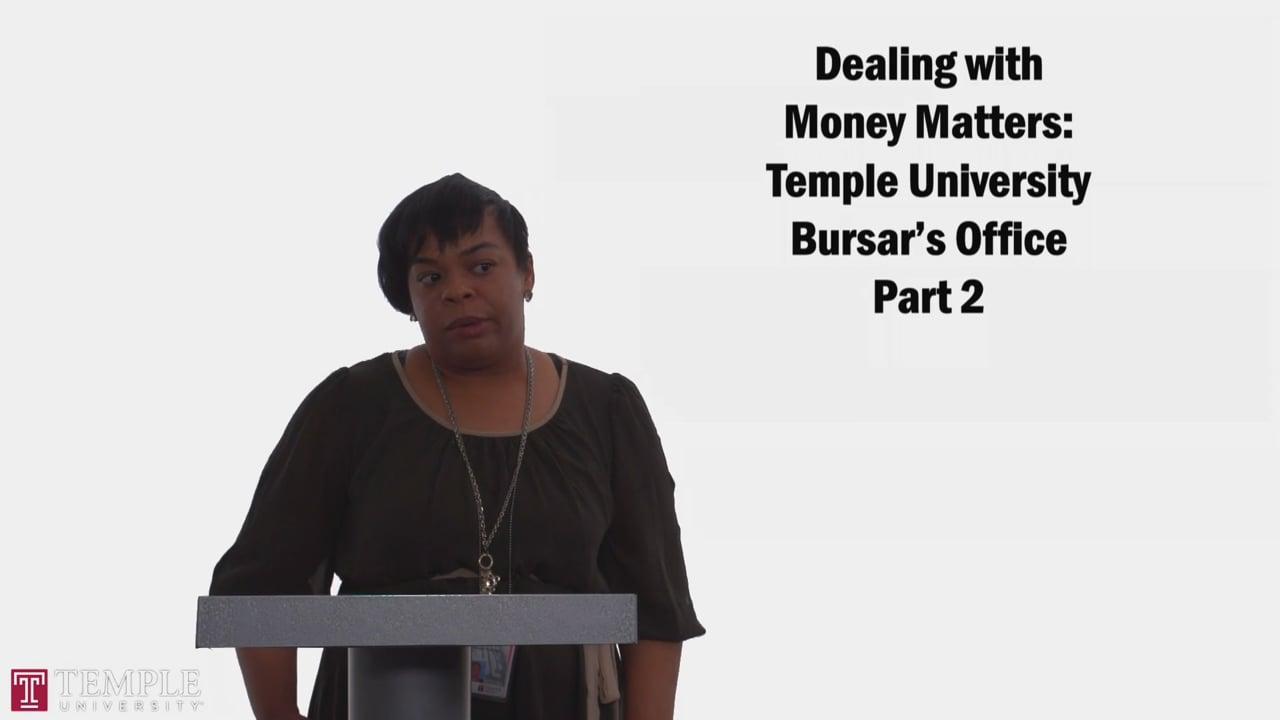 58717Bursars Office PT2: Financial Responsibility, Billing Process, FERPA