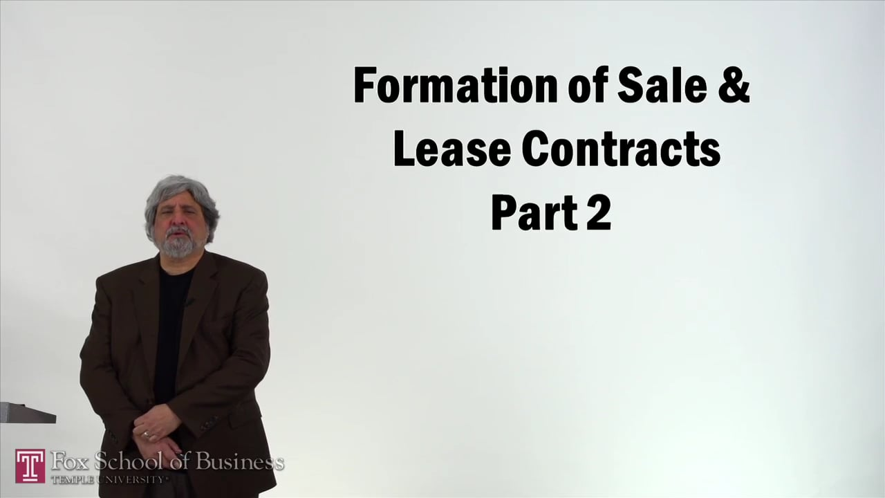 57180Formation of Sale and Lease Contracts II