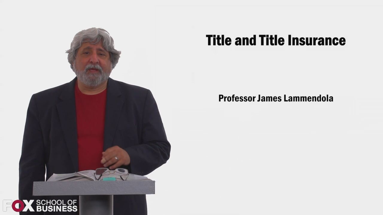 58549Title and Title Insurance