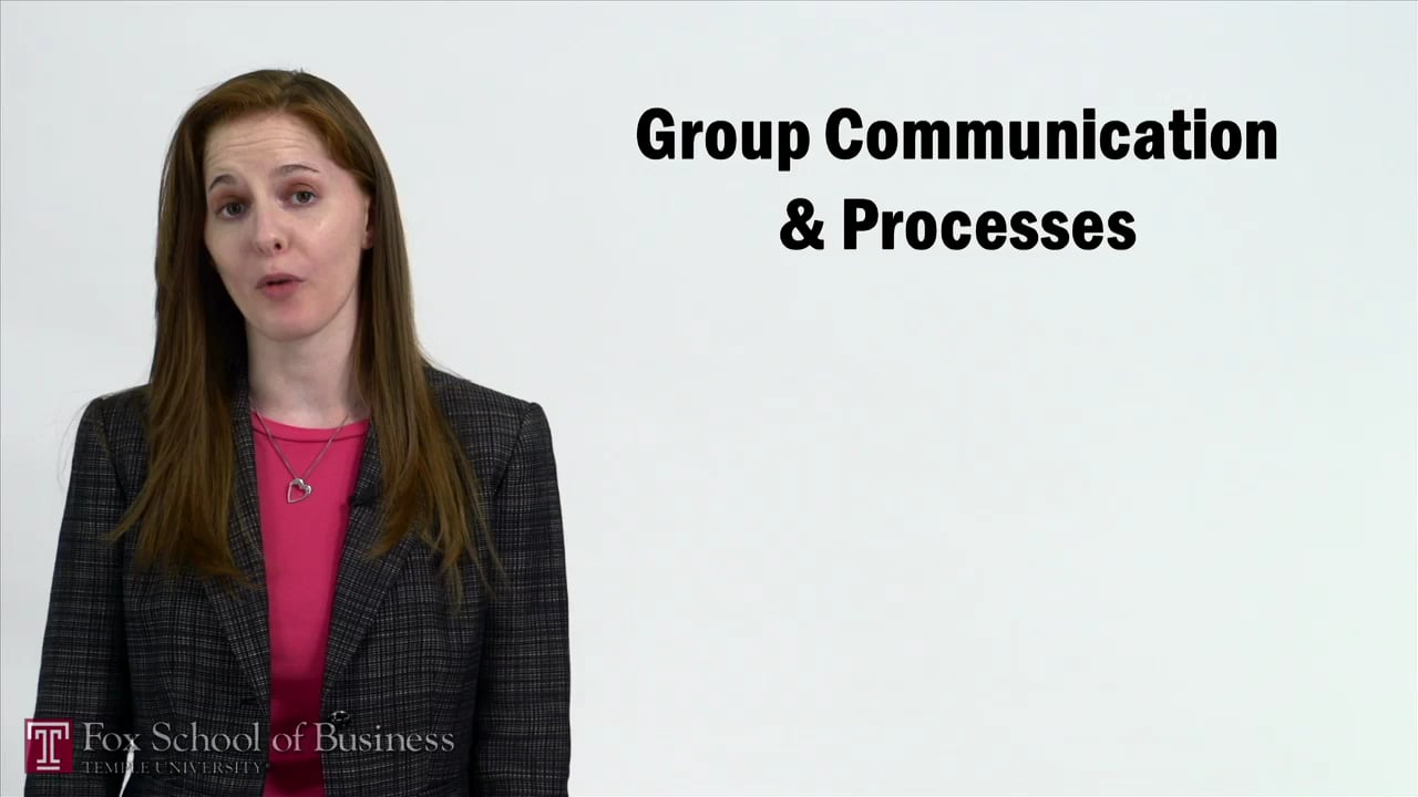 57257Group Communication and Processes
