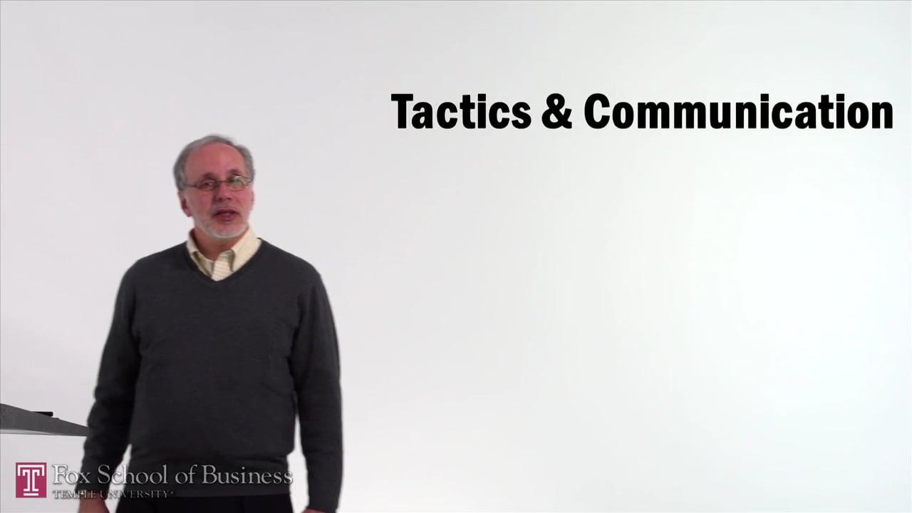 61528Tactics and Communication