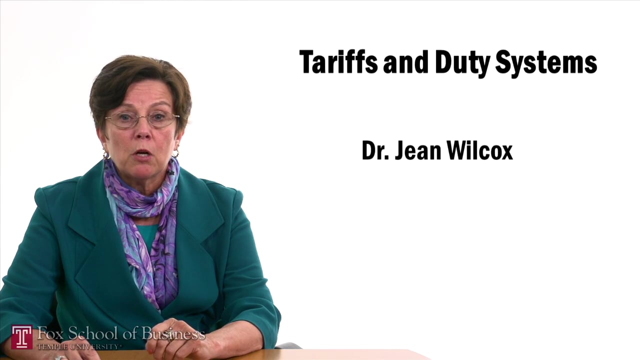 57483Tariffs and Duty Systems