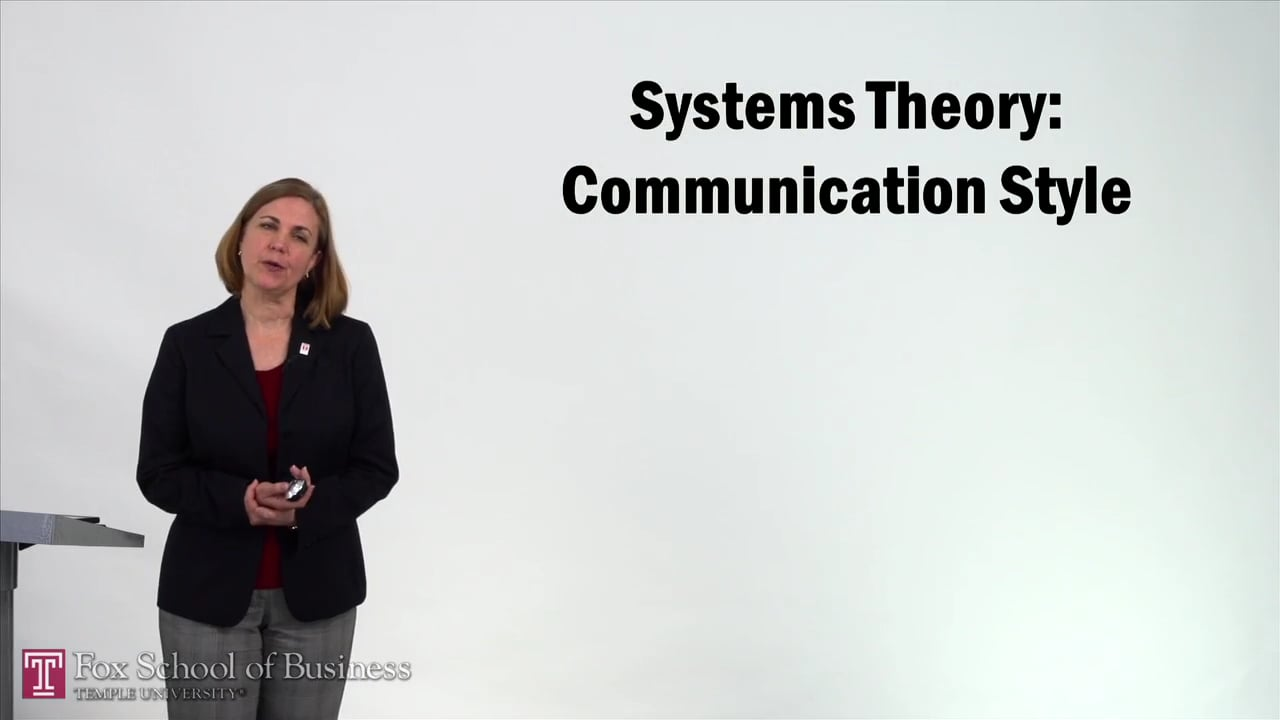 57232Systems Theory – Communication Style
