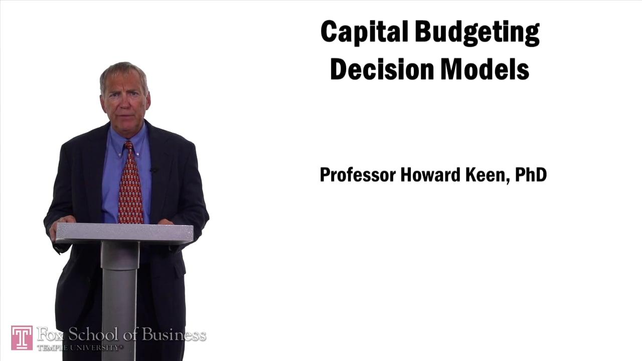 57561Capital Budgeting Decision Models