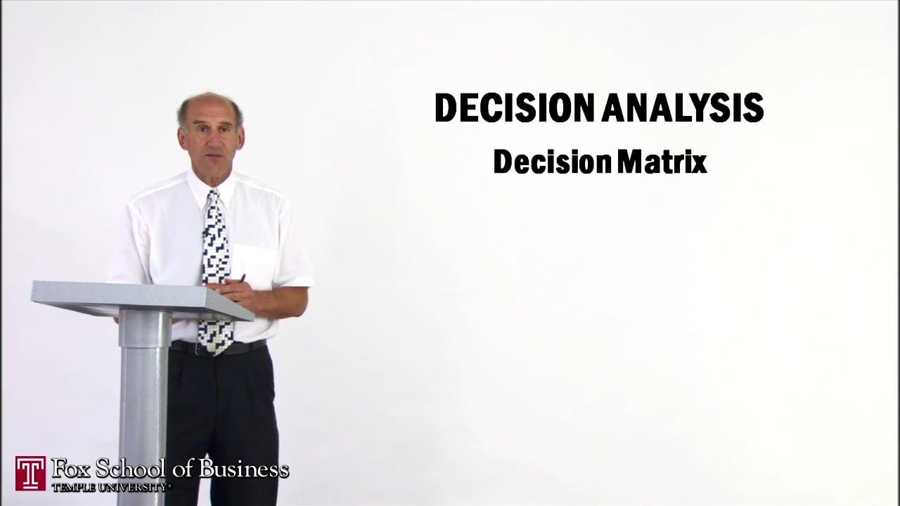 56910Decision Analysis II