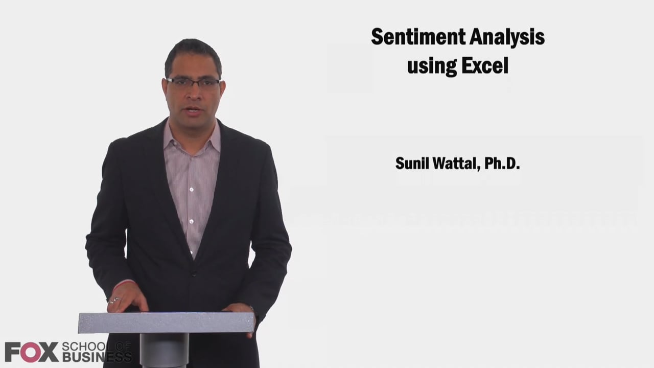 58630Sentiment Analysis Using Excel