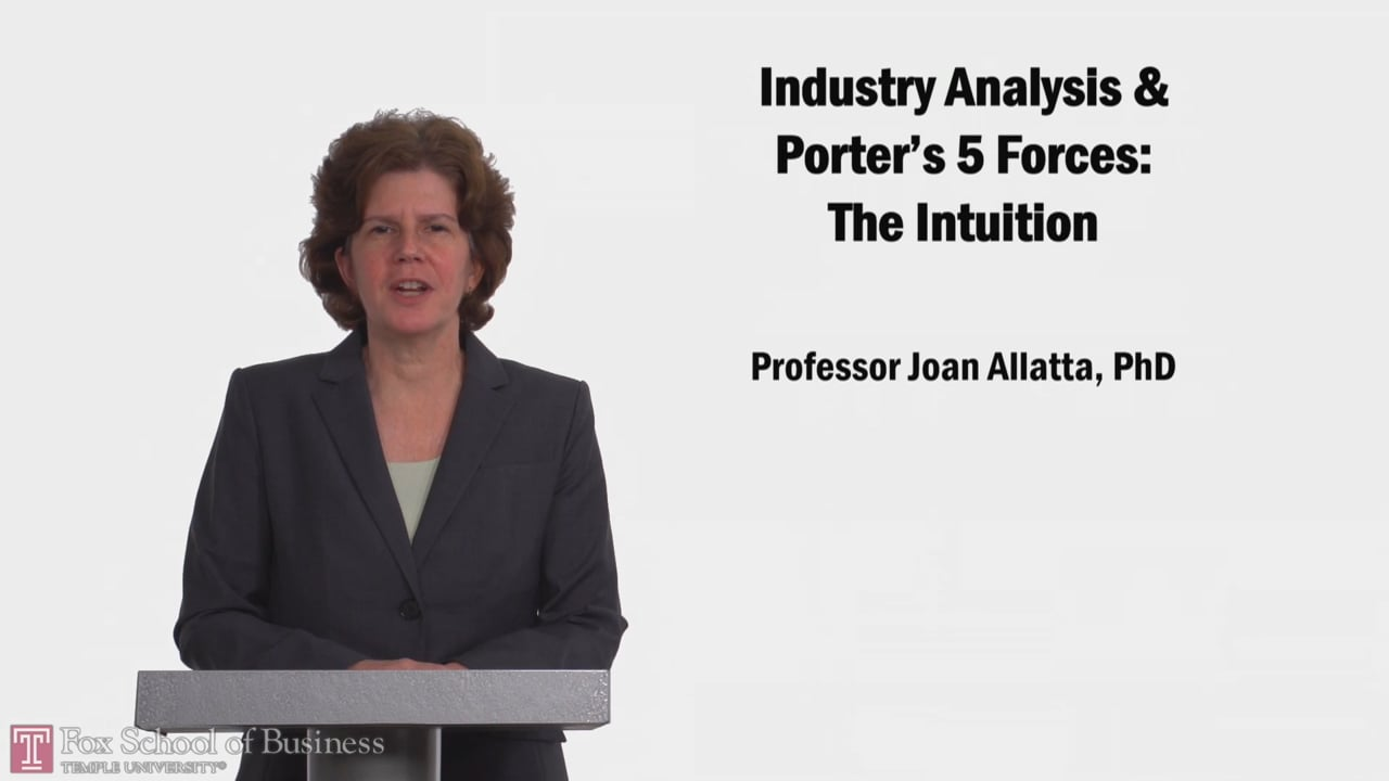 58163Industry Analysis and Porter's 5 Forces: The Intuition