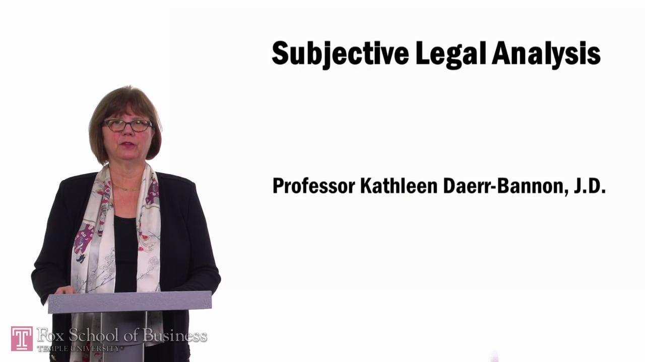 57747Subjective Legal Analysis