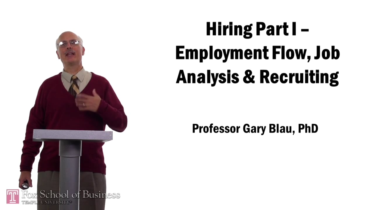 57555Hiring Part I – Employment Flow, Job Analysis and Recruiting