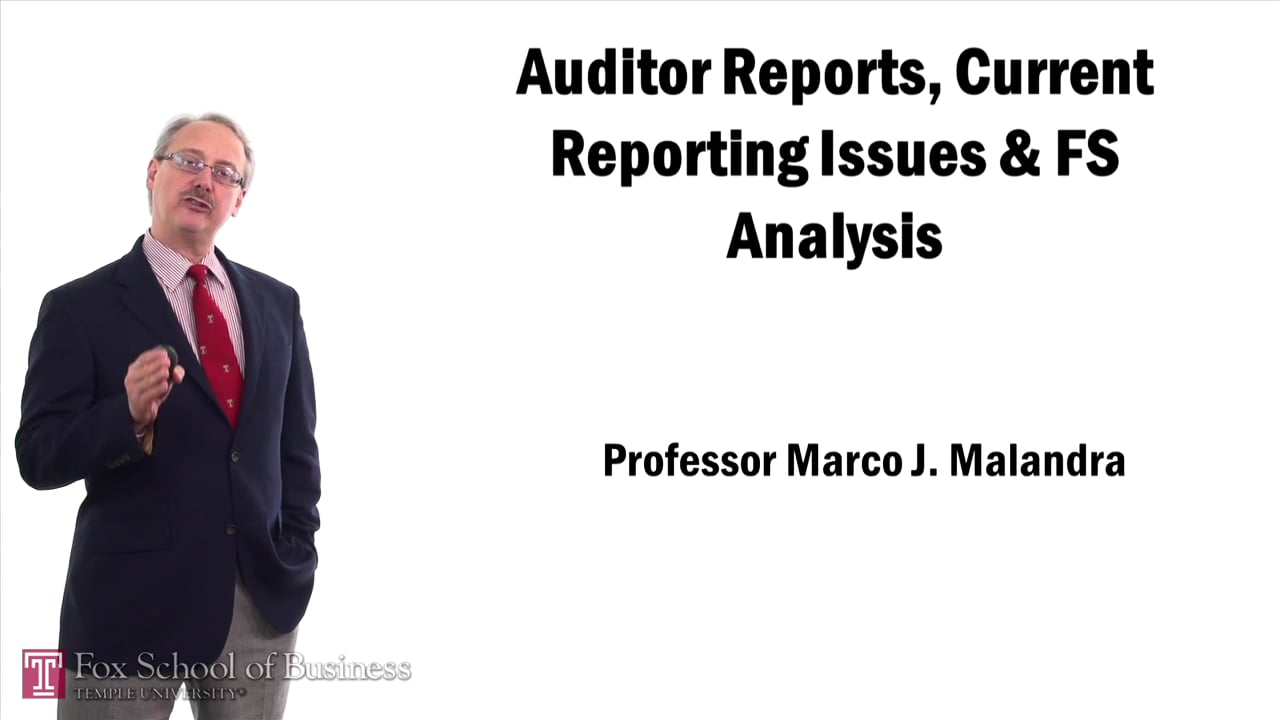57484Auditor Reports Current Reporting Issues and FS Analysis