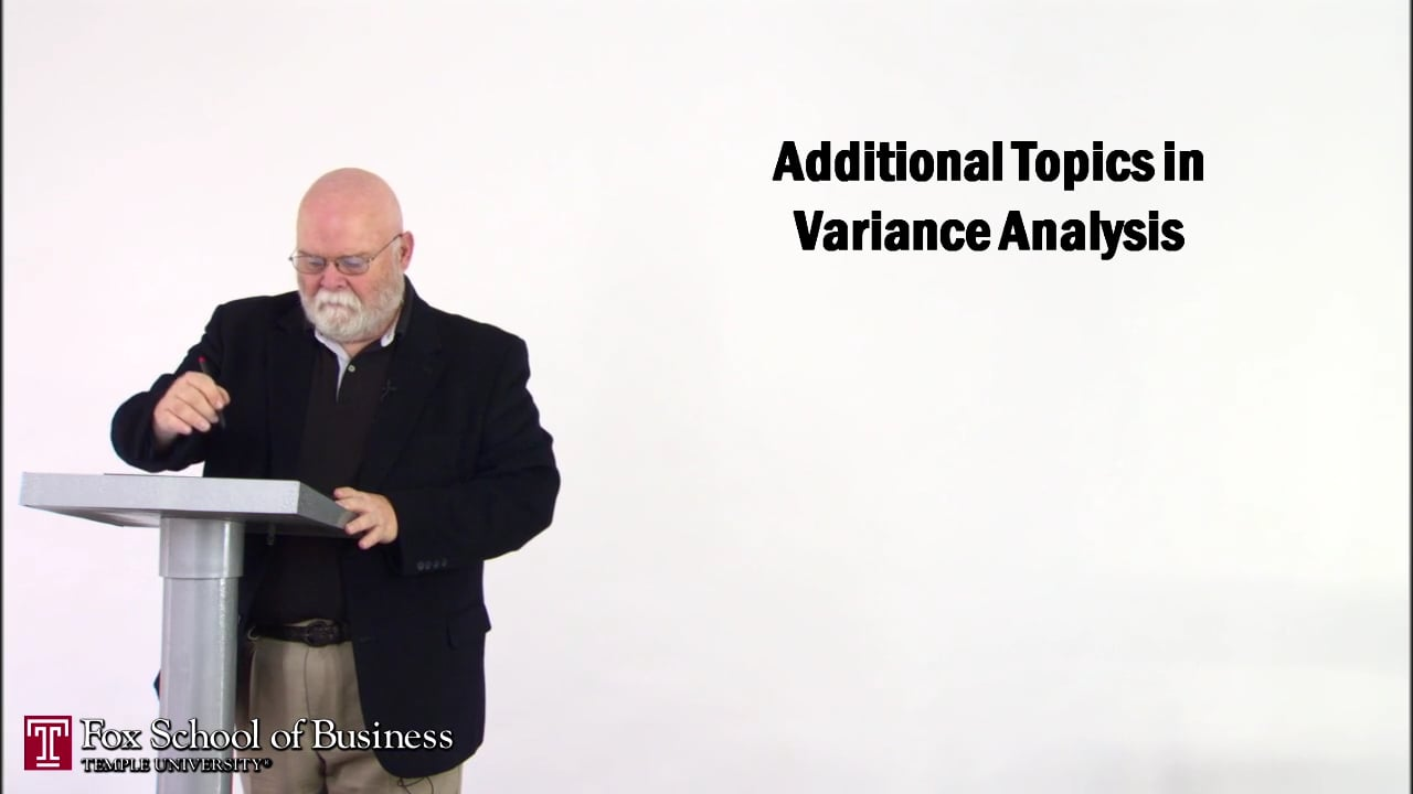 56852Additional Topics in Variance Analysis