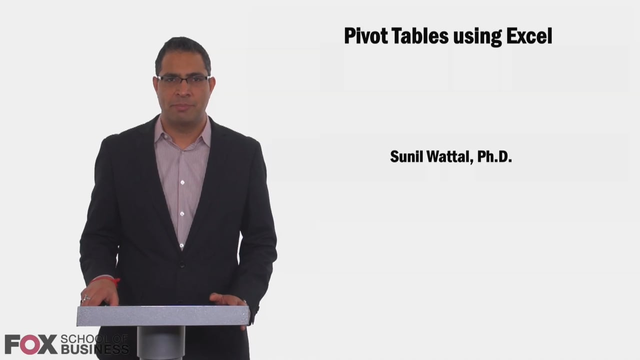 58627Pivot Tables Using Excel