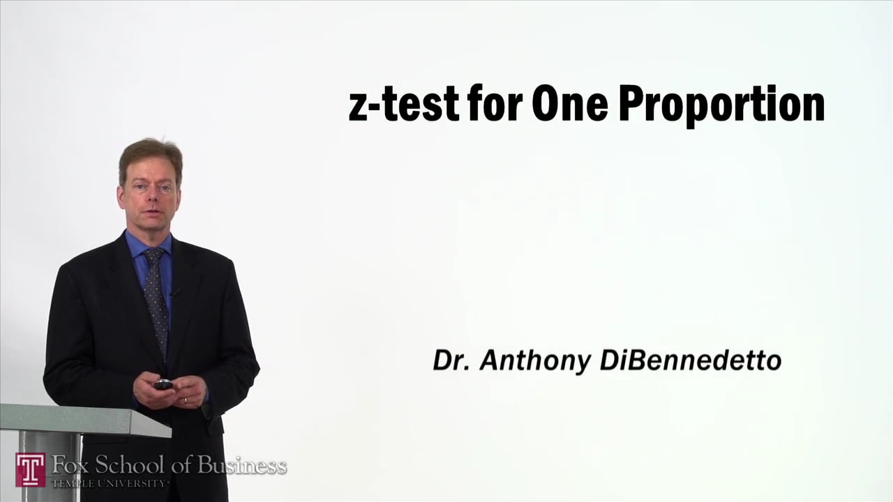 57382z-Test for One Proportion