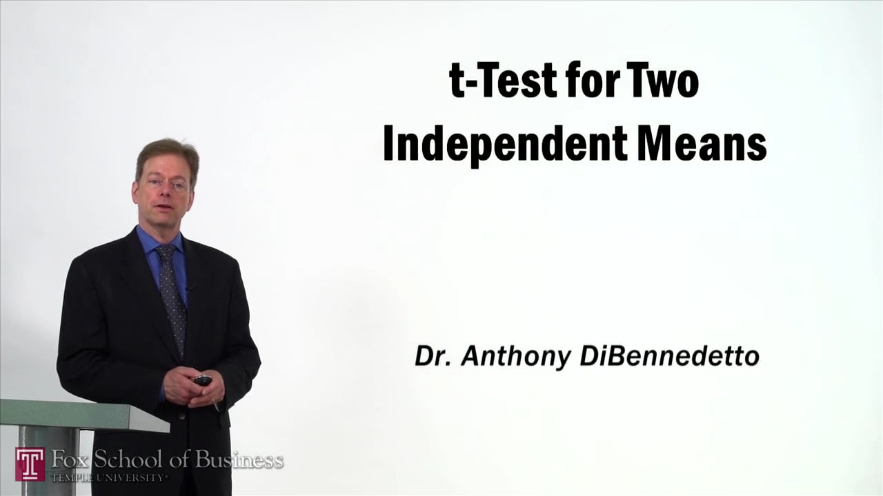 57379t-Test for Two Independent Means