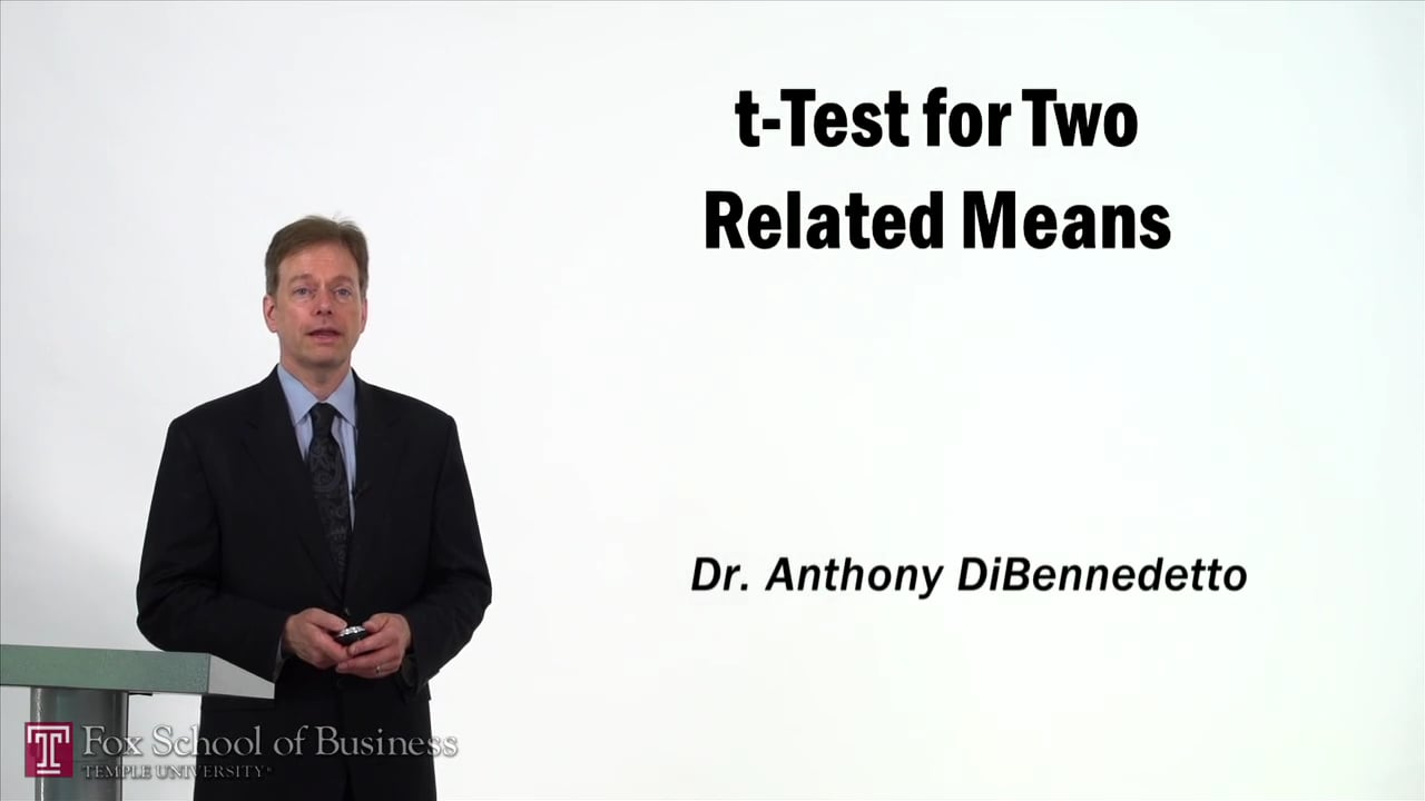57377t-Test for Two Related Means