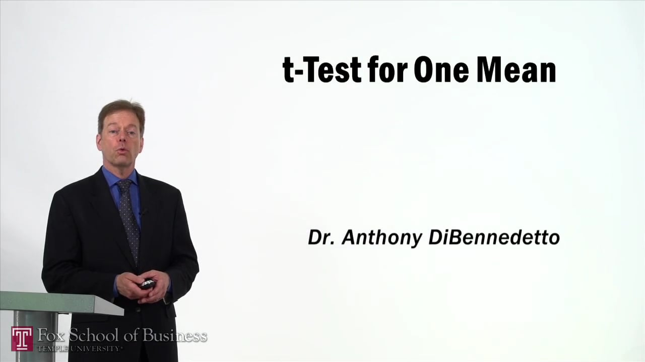 57366t-Test for One Mean
