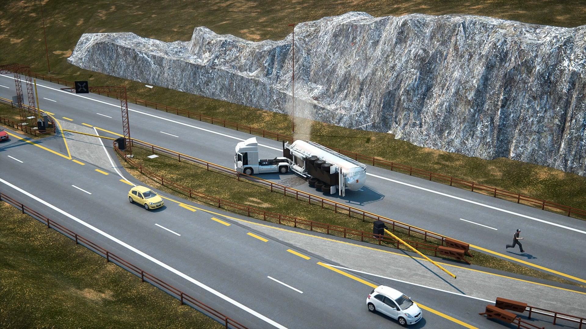 E6 Minnesund-Labbdalen Accident simulating 2016