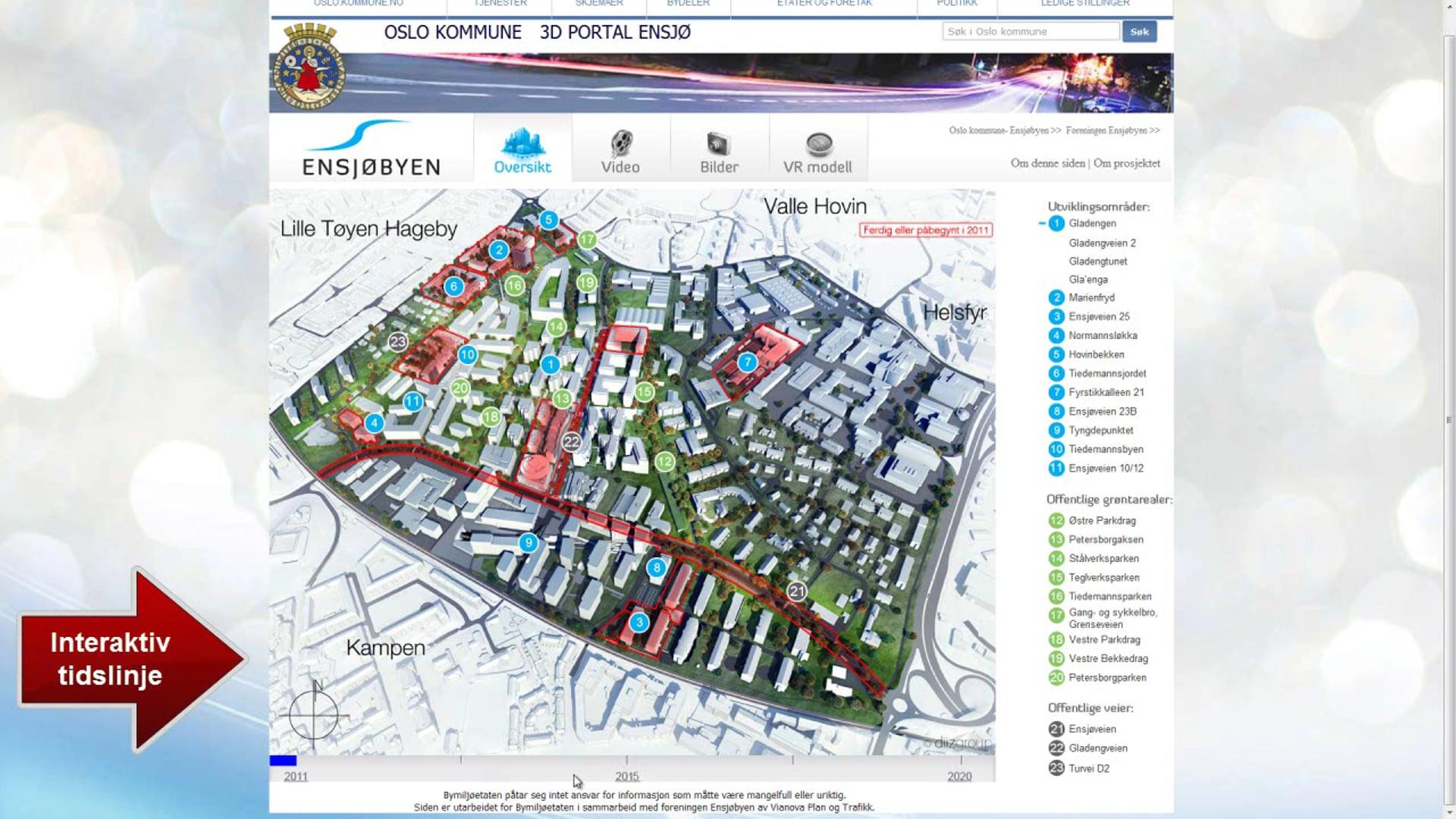 Ensjø New City development project web 2011