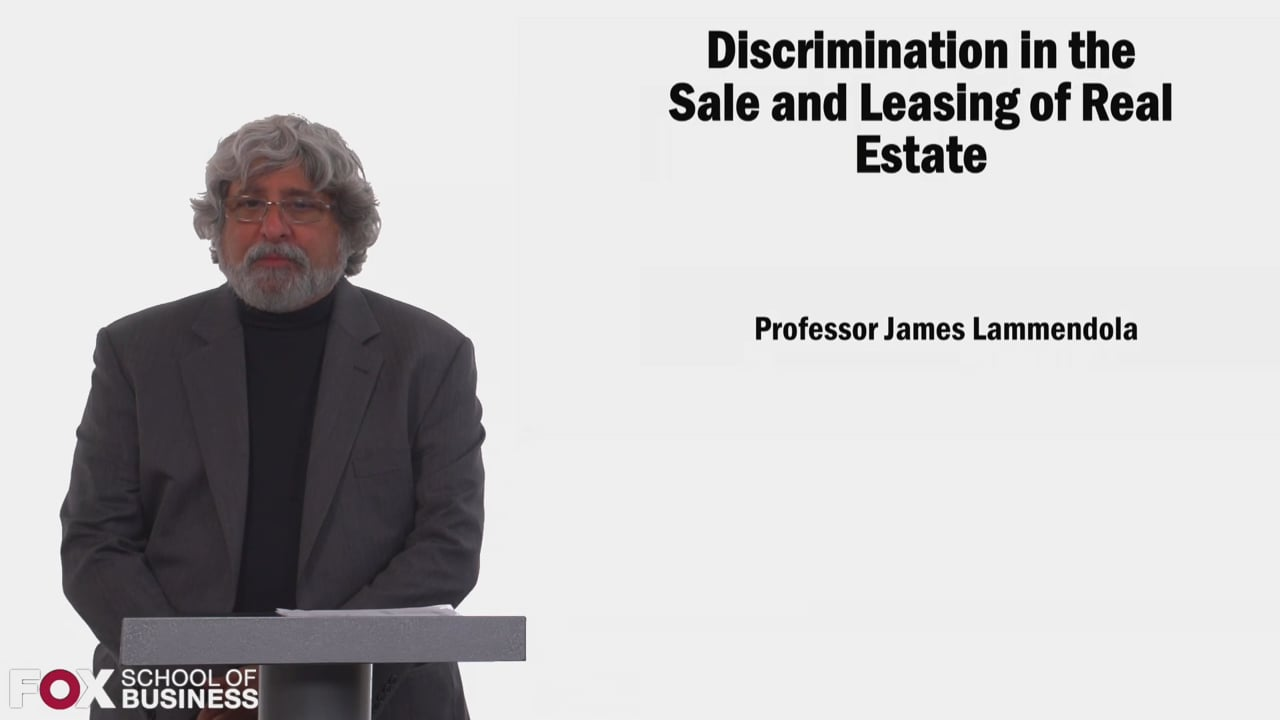 58517Discrimination in the Sale and Leasing of Real Estate